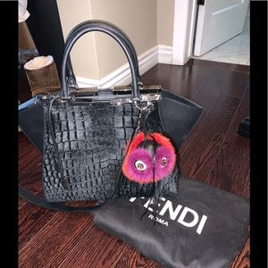 Handbags - Auth FENDI 3jour fur bag small with/without charm